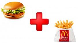Хэппи Мил с гамбургер и картофелем фри